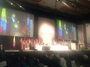 President of Colombia Juan Manuel Santos - closing remarks in Cartagena during the 3rd Global Summit