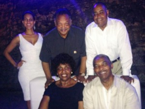 Claudia Umana Rev. Jackson, Senator Rodney Ellis (Houston), in Cartagena, Colombia