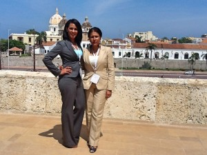 Claudia Umana, Dr. Norma Jackson - at the Catillo San Felipe Cartagena, Colombia
