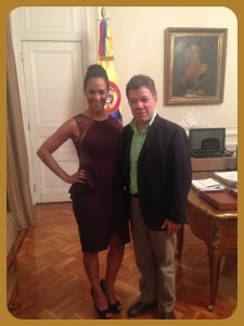 "Claudia Umana, President of Colombia Juan Manuel Santos at the Presidents' Residence ""Casa de Narino"""